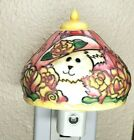 Boyds Bears Night Light Tiffany Style Glass Glowscapes Collection