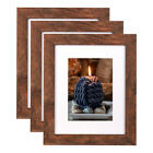 11x14 Picture Frames with Glass Mat 8x10 Photo Frame Set Wood Wall Home Decor