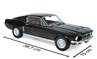 1 12 Scale 1968 FORD MUSTANG FASTBACK Black Model Car by NOREV