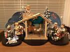HUMMEL CHILDRENS NATIVITY SETTING EXTENSIVE DISPLAY WITH STAGE  SCENERY