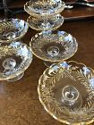 Antique Moser Bohemian Gold Gilt Set of 6 Mini Compote Nut Footed Dish c1800s