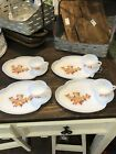 Vintage Fire King Milk Glass Autumn Leaves Tea Cup and Saucer Plate lot of 4