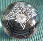 SIGNED RICHARD ECKERD WATER SWIRLED PAPERWEIGHT WITH STING RAY FISH