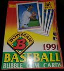 1991 BOWMAN BASEBALL SEALED SHRINK WRAPPED BOX 36 PACKS possible PSA 10 ROOKIES