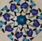 16 95 Cat i tude Hearts  Cats 1 Stack n Whack Quilt BlocksKaleidoscope