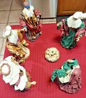 Christmas Nativity Scene Fabric Mache Figurines Christmas Decorations Set 6