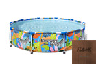 Above Ground Swimming Pool Round 10 ft x 26 in with Wild Safari Print