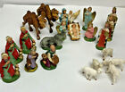 Christmas Vintage Manger Set Made In Italy Hand Painted 4