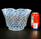 Antique Victorian Blue Tint Opalescent Hobnail Glass Oil Gas 9 Shade 5 Fitter