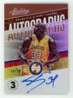 2018 Panini Absolute Shaquille O'Neal Auto Gold Level 3 # 10 SP Autograph Lakers