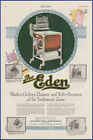 Vintage 1920 THE EDEN Electric Washing Machine Appliance Laundry 20s Print Ad