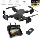 RC Drone Wifi 4K HD Camera+3 Battery Foldable Selfie RC Quadcopter Hobby toys US