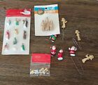 Vtg lot SSCO Hard Plastic Miniature Christmas diorama crafting angels nativity