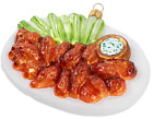 Hot Wing Plate BBQ Chicken Food Chef Polish Glass Christmas Tree Ornament 110352