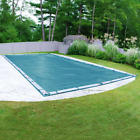 Galaxy 18 Ft X 40 Ft Rectangular Teal Blue Winter Pool Cover