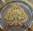Signed George Briard Raised Platter With Gold Accents