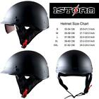 1Storm Motorcycle Half Face Helmet Mopeds Scooter Pilot With Retratable Inner Sm