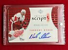 2007-08 UD Trilogy NICKLAS LIDSTROM Level 2 Script Autograph Auto Card Red Wings