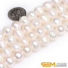 White Freshwater Cultured Pearl Round Loose Spacer Beads For Jewelry Making 15