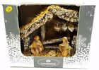 Euromarchi Nativity Scene Set Stable with 3 Figurines Made In Italy New