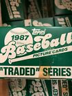 1987 TOPPS TRADED 132 CARD FACTORY SET ....FROM MY CASE GREG MADDUX ROOKIE CARD
