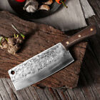 8 In Handmade Traditional Chinese Forged Chef Kitchen Meat Cleaver Slicing Knife