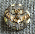 Antique Vtg Victorian Glass Button Bat with Carnival Luster Aprx7 8 415 A