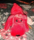 TY Beanie Baby Red Rover The Red Dog 1996 PVC Pellets Stuffed Toy MWMT Retired