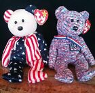 TY Beanie Babies Teddy Bears USA 2000/ Pink Face Spangle 1999. Perfect Condition