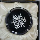 SIGNED WHITEFRIARS SNOW CRYSTAL Art Glass Paperweight LTD 11 of 1000 1981 in box