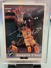 1992 Sports Card NATIONAL CONVENTION AUTO (BLACK BACK ) SHAQUILLE O'NEAL RC Shaq