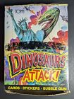 1988 Topps Dinosaurs Attack Trading Cards Box - 48 Sealed Wax Packs - w Poster