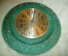 Tiara By Indiana Glass Spruce Green Clock 12