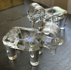 MCM KOSTA BODA Pair Of Rams GLASS CANDLE HOLDERS Hand Made By BERTRIL VALLIEN