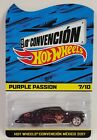 Hot Wheels 2017 Mexico Convention Christmas Purple Passion Redline Real Riders