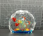 Vintage Murano Style 6 Fish Aquarium Sculpture Paperweight