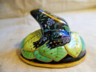Vintage Ceramic Frog Figurine Paperweight By Lynn Chase 1989