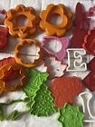 Lot Of 27 CooKie Cutters Various Shapes Holidays Letters Tupperware Wilton