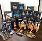 Lot of Vintage Roman Fontanini Nativity Collectibles with boxes 1990s 2000s
