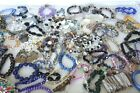MIXED LOT of 79 Glass Crystal Beaded Gold  Silver Charm Bracelets MUST SEE 51