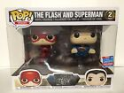 Funko Pop! DC JUSTICE LEAGUE The Flash And Superman 2 Pack 2018 NYCC Exclusive