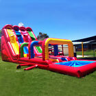 40x16ft Commercial Inflatable Water Triple Slip N Slides With 2 Air Blowers