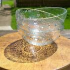 3 Recycled Hammer Texture Glass Bowls Added Beading Contemporary