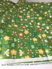 Cosmo Cricket Girl Friday Fabric Green Yellow Tulip Bee 2 Quilt Cotton F4