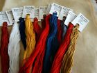 America the Beautiful over dyed floss set 12 skeins 20 yards each