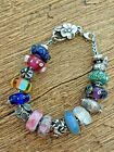 Authentic Trollbeads Complete Bracelet with Glass  Sterling Silver Beads
