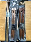 Plymouth wooden straight knitting needles 3 sets Sizes 105 19  35