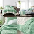 Westerly Green King Textured Cotton Voile Quilt