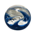 Vintage 1982 Selkirk Scotland Glass Paperweight Sanctuary 82 of 350 Blue White