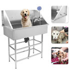 Pet Grooming Bath Tub 34 Wash Shower Stainless Steel Dog and Cat Pet Shop